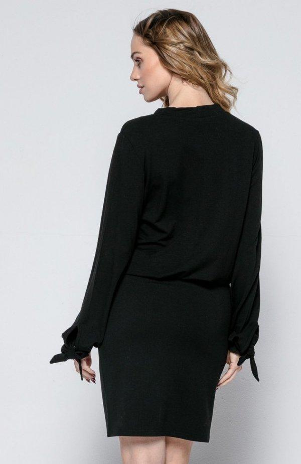 FIMFI I244 sukienka czarna tył