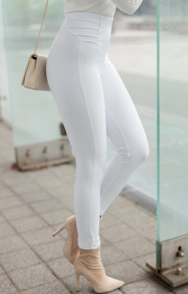 Modelujące białe spodnie Lola Fashion-1