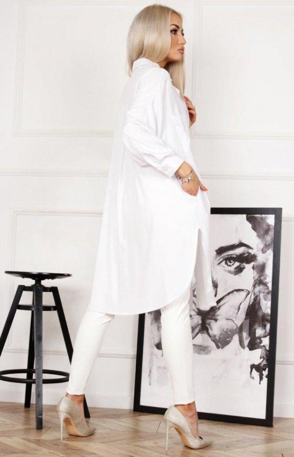 Biała koszula damska tył