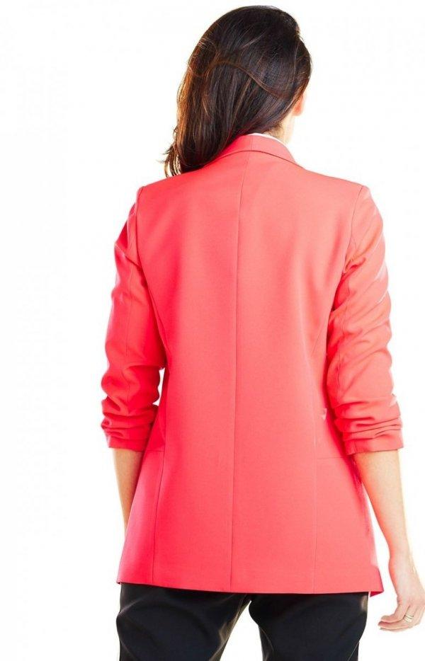 Elegancki różowy żakiet A267 tył