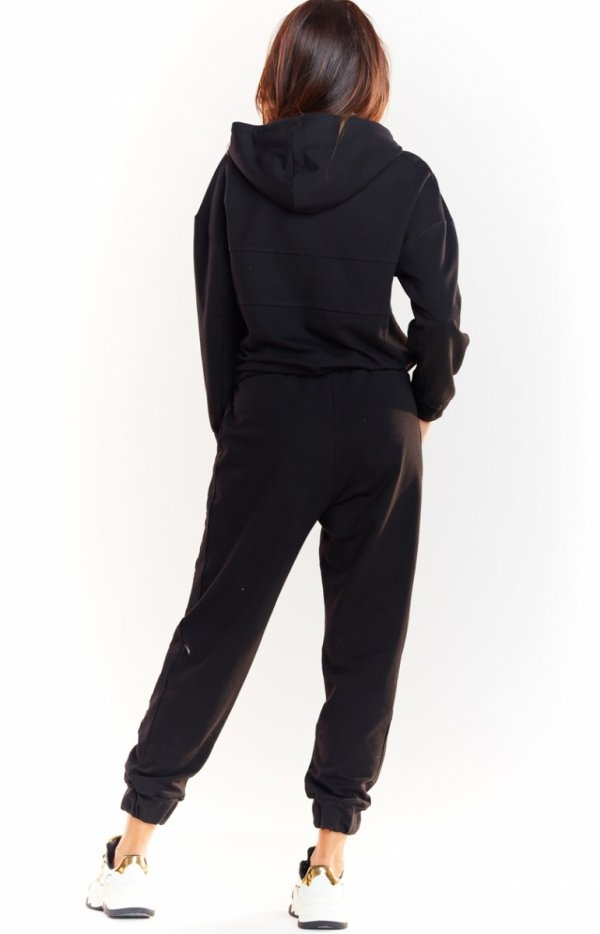 Sportowe spodnie czarne M231 tył