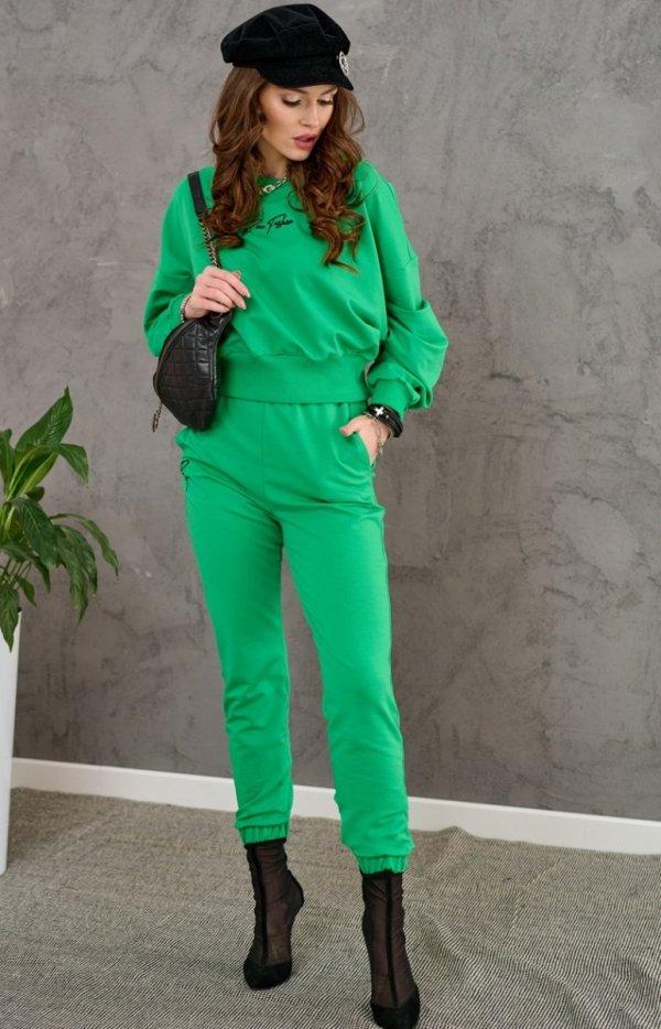 Komplet dresowy zielony 0007-1