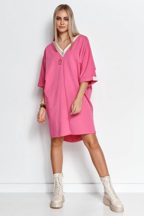 Oversizowa dresowa sukienka M626-1