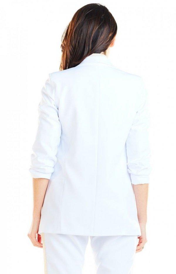 Elegancki biały żakiet A267 tył