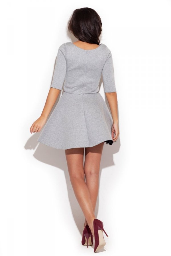Katrus K227 sukienka szara