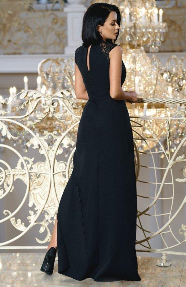 Bicotone 2168-06 sukienka czarna tył