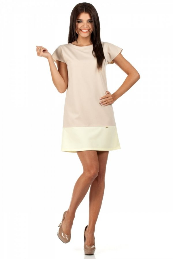 Moe MOE100 sukienka beżowa