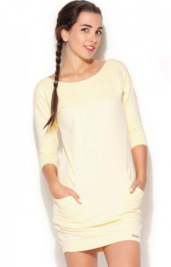 Katrus K181 sukienka żółta
