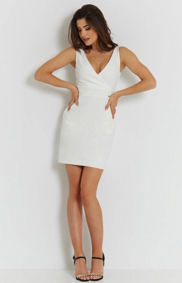 Seksowna śmietankowa sukienka Paola-2