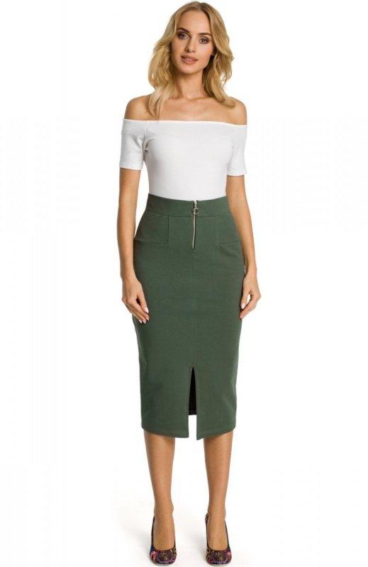 Fantastyczny Moe M348 spódnica zielona - Spódnica ołówkowa - Dluga spódnica NQ01