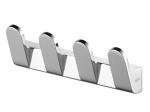 Metalowy wieszak łazienkowy Bisk Futura Silver 02980 4-zawieszkowy chromowany