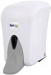 Dozownik  łokciowy do  mydła w płynie Faneco Pop (SA1000PG-WG) 1 litr z tworzywa ABS