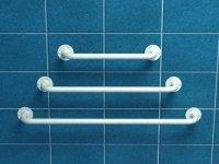 Poręcz prosta z atestem 80 cm fi 25 mm emaliowana biała