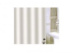 Zasłona prysznicowa tekstylna Bisk UNITY 08702 biała