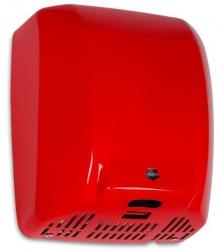 Suszarka do rąk Warmtec MaxFlow 1800W, automatyczna, czerwona ze stali nierdzewnej