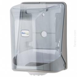 Pojemnik (podajnik) Faneco POP (P22PG-WT) na ręczniki papierowe w rolkach, ścienny, plastikowy ABS