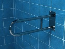 Poręcz uchylna łukowa dla niepełnosprawnych PSP/PSM 675 75 cm stal nierdzewna