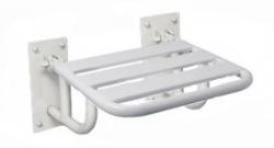 Krzesełko prysznicowe uchylne z podporami mocowane do ściany KP2