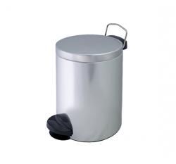 Metalowy kosz na śmieci KP 5-S ze stali nierdzewnej 5l z pedałem