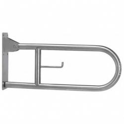 Poręcz uchylna łukowa dla niepełnosprawnych Faneco S32UUWC6P SN M 60 cm stal nierdzewna