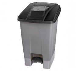 Kosz na śmieci plastikowy KP100-CZA 100 L Linea Trade