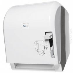 Manulany podajnik ręczników w roli POP Faneco (PM20PGWG) na ręczniki papierowe w rolkach, ścienny, plastikowy ABS, niepalny