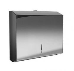 Pojemnik (podajnik) Bisk Masterline (01571) na ręczniki papierowe w listkach ZZ, ścienny, ze stali nierdzewnej