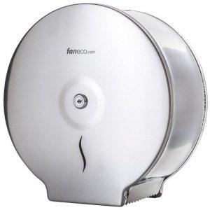 Pojemnik (podajnik) Faneco Hit (J25SJB) na papier toaletowy w rolkach, ścienny, ze stali nierdzewnej