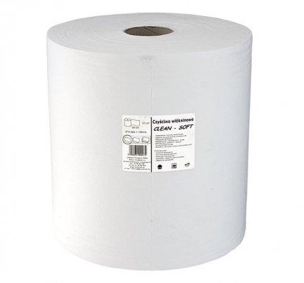 Czyściwo włókninowe Clean-Soft bezpyłkowe białe w rolce 185 mb