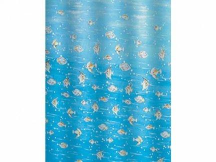 Zasłona prysznicowa Bisk PEVA M FISH 05847 120x200 cm