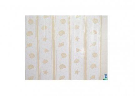 Zasłona prysznicowa Bisk PEVA SHELL 00815 120x200 cm