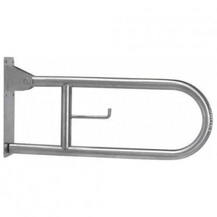Poręcz uchylna łukowa dla niepełnosprawnych Faneco S32UUWC8P SN M 80 cm stal nierdzewna