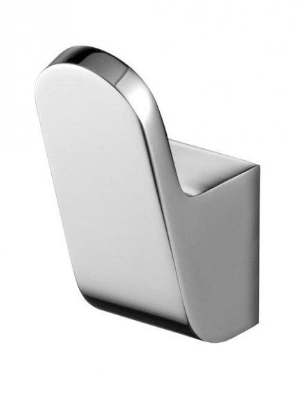 Metalowy wieszak łazienkowy Bisk Futura Silver 02992 pojedynczy chromowany