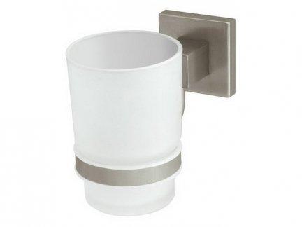Kubek szklany łazienkowy Bisk Nord 00574 z uchwytem