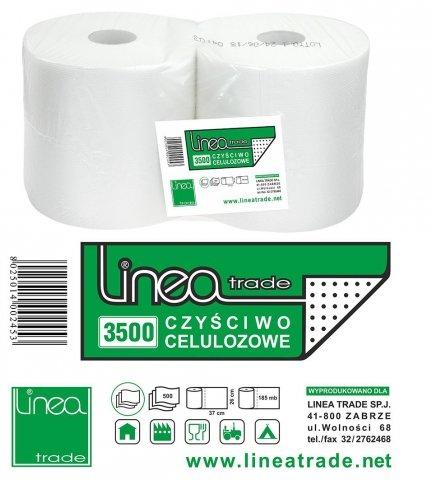 Czyściwo uniwersalne Linea Trade 3500 papierowe białe 2 rolki