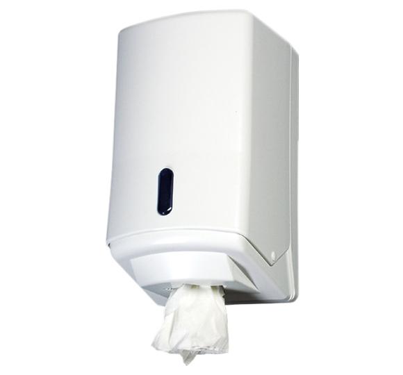 Pojemnik (podajnik) 220 na ręczniki papierowe w roli z wyciąganą tuleją, wykonany z tworzywa sztucznego ABS