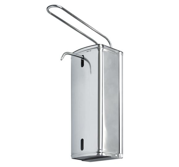 Dozownik (dystrybutor) łokciowy do płynów dezynfekcyjnych i mydła w płynie S-DM S/S 1 litr ze stali nierdzewnej