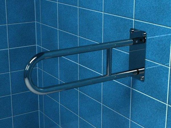 Poręcz uchylna łukowa dla niepełnosprawnych PSP/PSM 660 60 cm stal nierdzewna