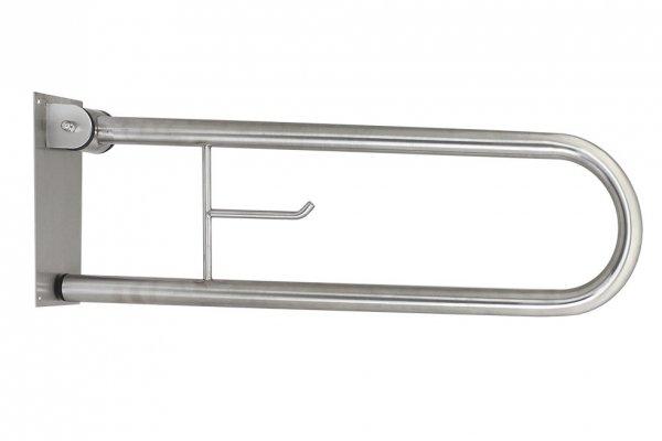 Poręcz uchylna łukowa dla niepełnosprawnych Linea Trade 141300 73 cm stal nierdzewna