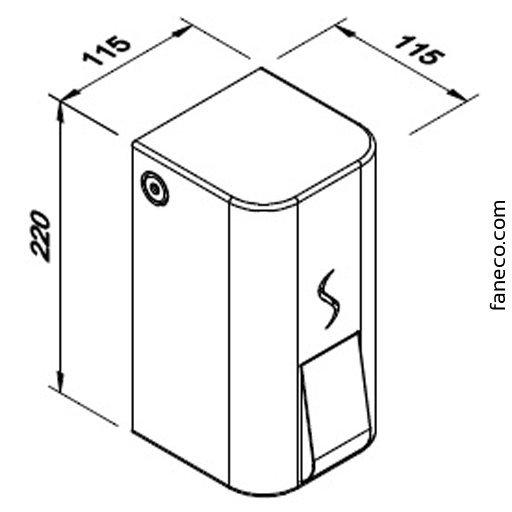 Dozownik mydła w płynie 0,9l LUNA S900SNB