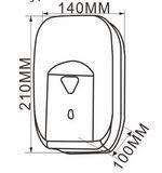 automatyczny-dozownik-na-mydło-w-płynie-1,2-l-wymiary