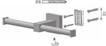 Uchwyt WC zapasowy Bisk Nord 00583 na papier toaletowy w rolce