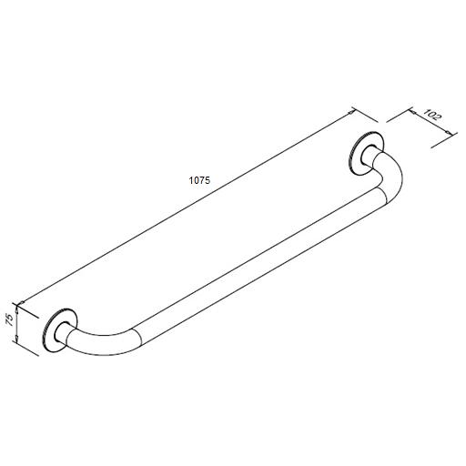 Poręcz prosta dla niepełnosprawnych Faneco S32UP10 SN M 100cm stal nierdzewna