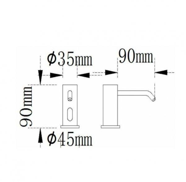 dozownik-na-mydło-w-płynie-automatyczny-impeco-prestige-H701-wymiary
