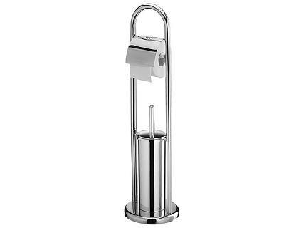 Zestaw WC Bisk 00085 - Stojak na papier toaletowy i szczotka WC