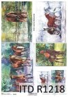 Papier decoupage malarstwo współczesne, konie*Paper decoupage contemporary painting, horses