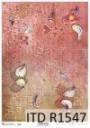Papier decoupage Walentynki, ptaszki, napisy*Valentines decoupage paper, birds, inscriptions