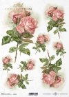decoupage rosas de papel de color rosa*Decoupage Papier rosa Rosen*декупаж бумага розовые розы