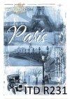 Paryż, retro, poranek, wieża Eiffla, most, zabytkowy samochód