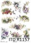 papier decoupage bukiety kwiatów*Paper decoupage bouquets of flowers